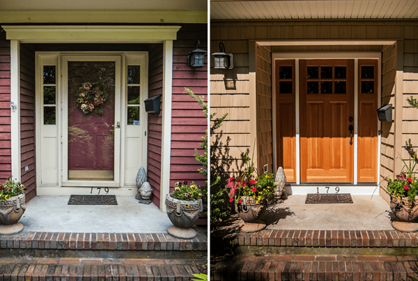 Before And After Door & Siding