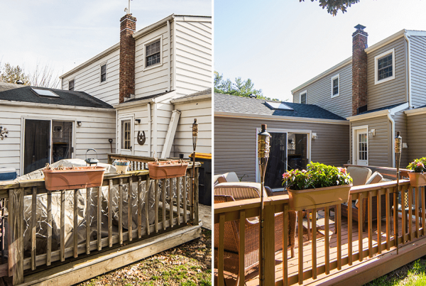 Before And After Deck & Siding