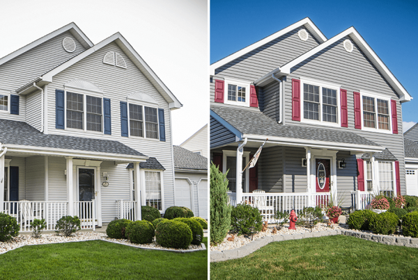 Before And After Shutters & Siding
