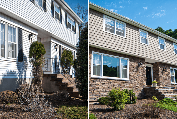 Before And After Siding And Stone
