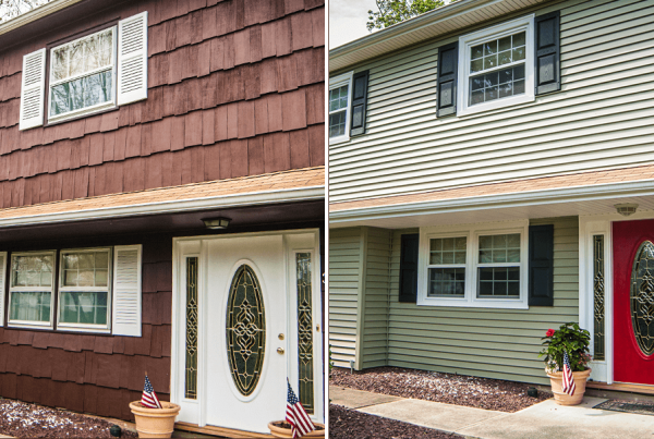Before And After Siding & Front Door