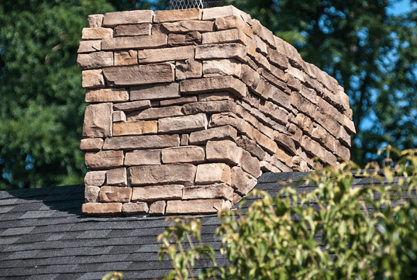 Roof With Stone Chimney