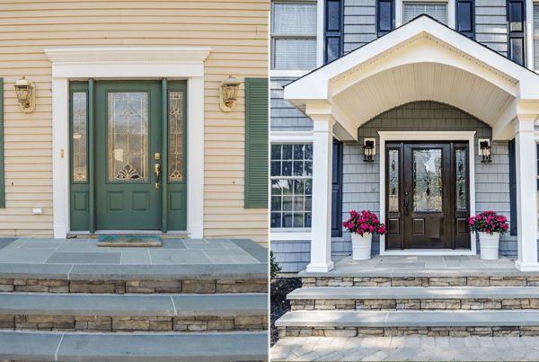before and after portico and door