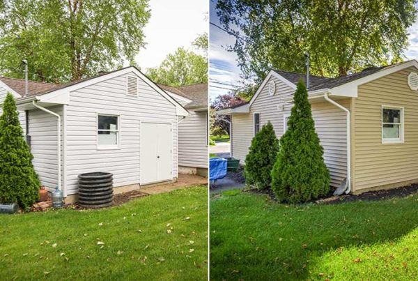 before and after vinyl siding